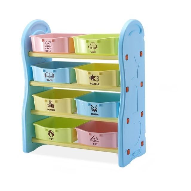 【Ashley House】歐規安全兒童四層玩具收納架