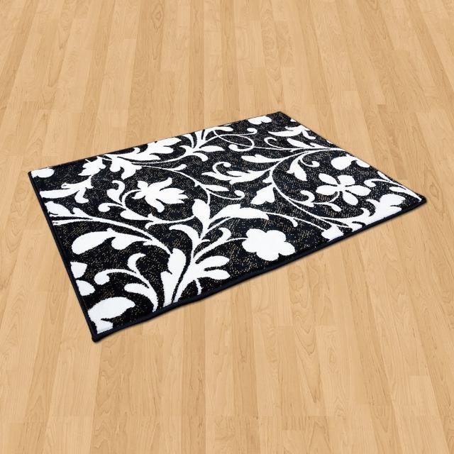 【Ambience】比利時Palmas 玄關/床邊 絲光地毯(花蔓 68x110cm)