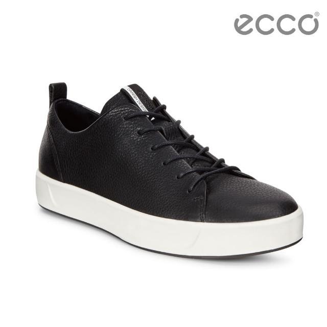 【ECCO】SOFT 8 LADIES 簡約休閒鞋(黑 44050301001)