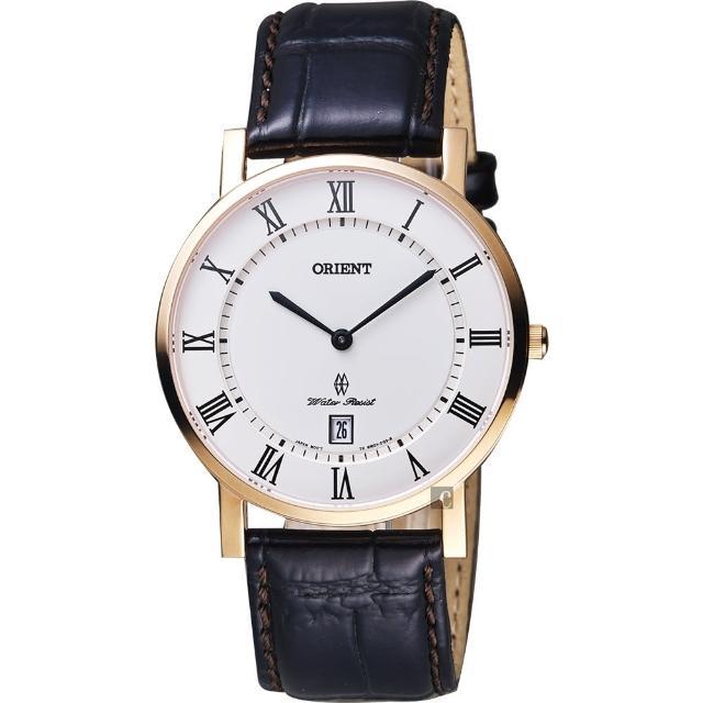 【ORIENT】東方 羅馬復刻腕錶-白x玫塊金框/38mm(FGW0100EW)