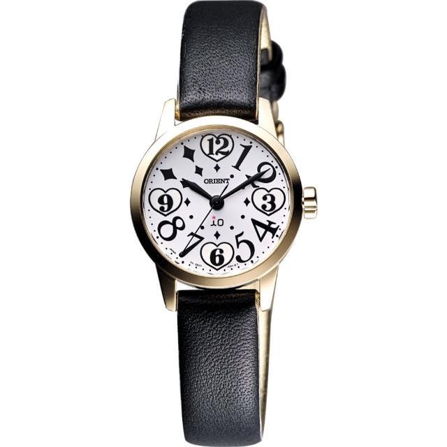 【ORIENT】東方錶 iO系列 時空愛戀甜蜜女錶-金框x黑/25mm(WI0011QB)
