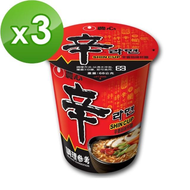 【NONG SHIM】農心 辛香菇杯麵(68g)x3入