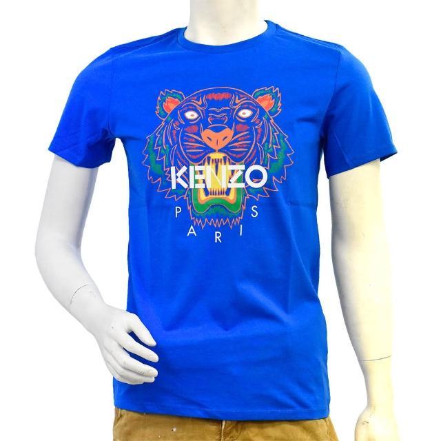 【KENZO】老虎標誌印花圓領衫(豔藍KJ1057844-VIVID BLUE)