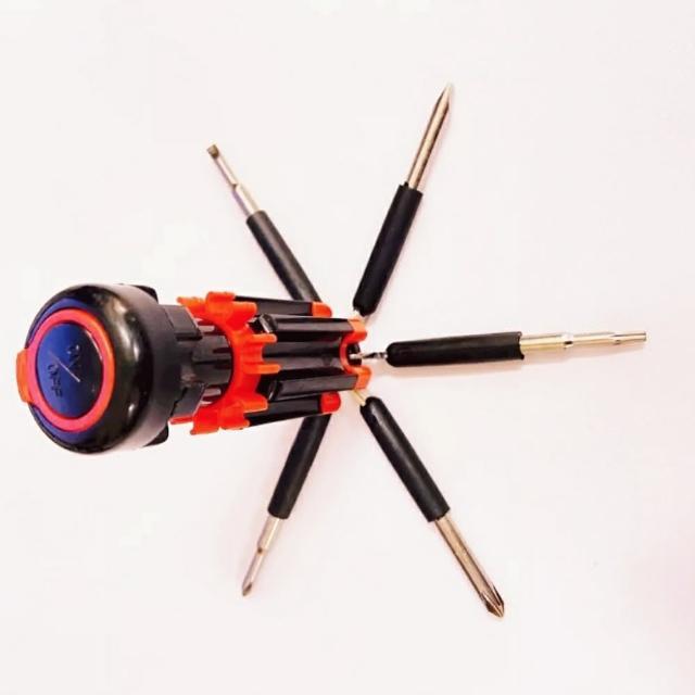 【Ainmax】6合1多功能工具組/6合一螺絲起子手電筒工具(送飛機3.5mm耳機轉接頭)