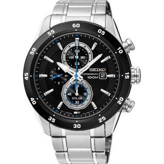 【SEIKO】精工 Criteria 太陽能計時腕錶-黑/42mm(V176-0AR0D  SSC531P1)