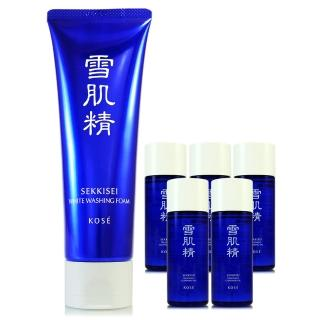 【KOSE高絲】雪肌精淨透洗顏霜130g+雪肌精化妝水33ml*3(正統公司貨)