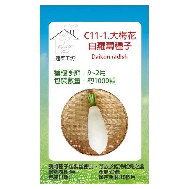 【蔬菜工坊】C11.梅花白蘿蔔種子