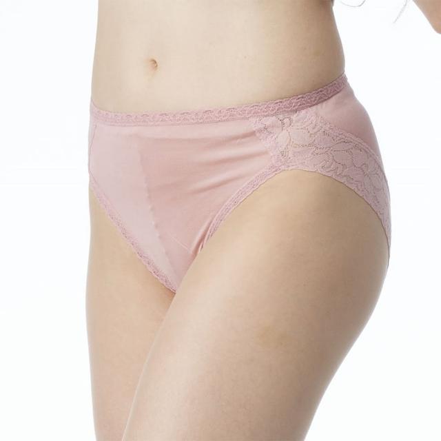 【BELLA SETA】100% 蠶絲蕾絲內褲5件組