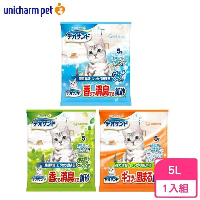【Unicharm消臭大師】強力消臭紙砂 5L
