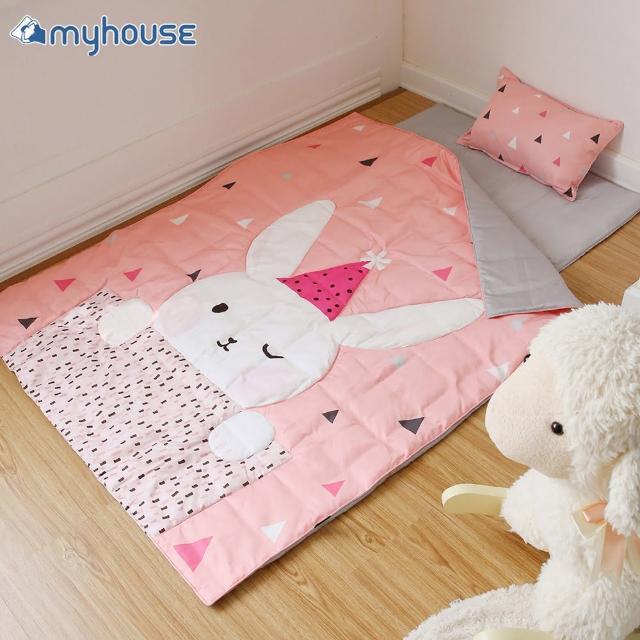 【MYHOUSE】韓國防蹣抗敏派對動物兒童睡袋 -(三款可選)