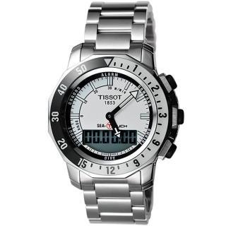 【TISSOT】SEA-TOUCH 怒海潛將觸控潛水錶-白/44mm(T0264201103100)