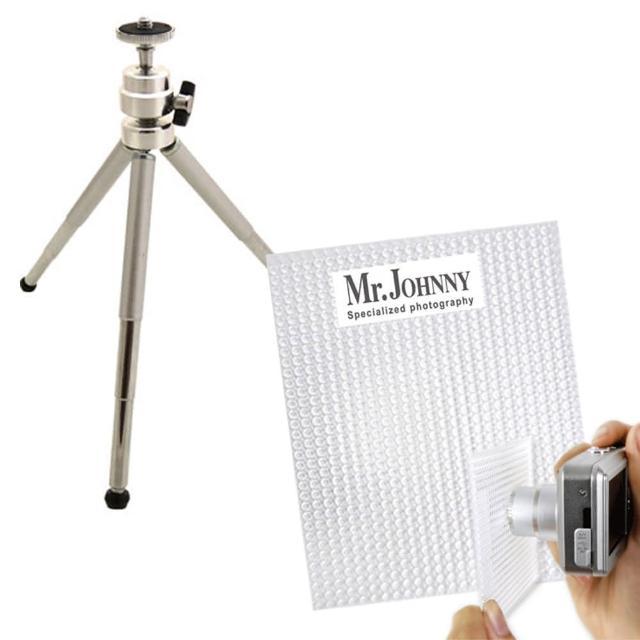 【PhotoPalette】拍出好看照片組- Mini攜帶式專業鋁合金五節迷你腳架+白平衡校正濾片(腳架 白平)