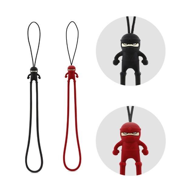【Bone】忍者防刮彈力吊繩 - 紅/黑(無毒認證矽膠)