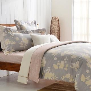 【Cozy inn】千玉-300織精梳棉三件式被套床包組(單人)