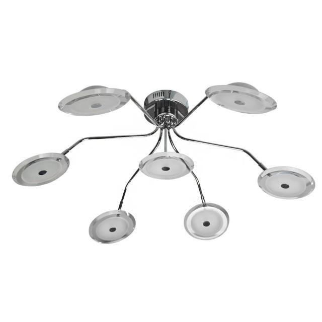 【華燈市】伊蕾斯飛碟型7燈LED半吸頂燈(客廳)