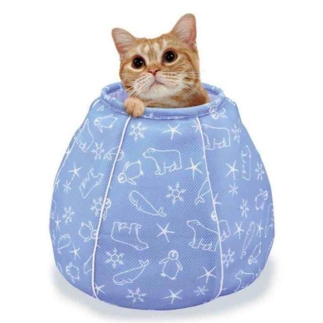 【Marukan】貓咪避暑涼感水桶包(CT-405)