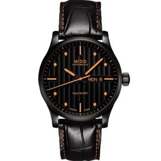 【MIDO】Multifort 先鋒系列典藏機械腕錶-黑/42mm(M0054303605180)