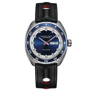 【HAMILTON 漢米爾頓】AMERICAN CLASSIC/耀眼時尚機械腕錶/藍/(H35405741)