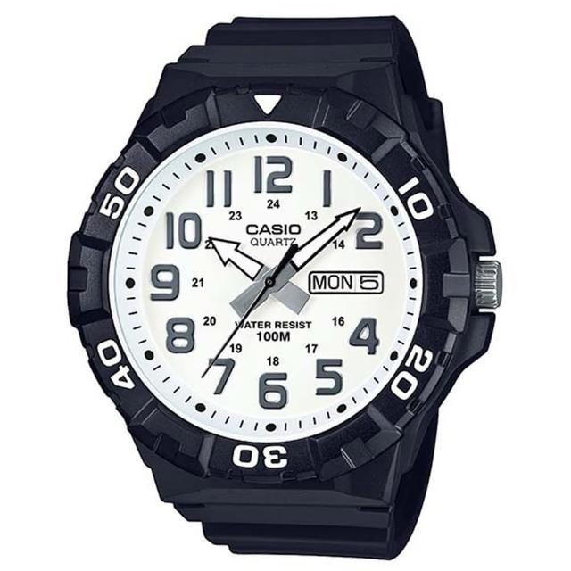【CASIO】簡潔實用潛水風格系列數位錶-數字白面(MRW-210H-7A)