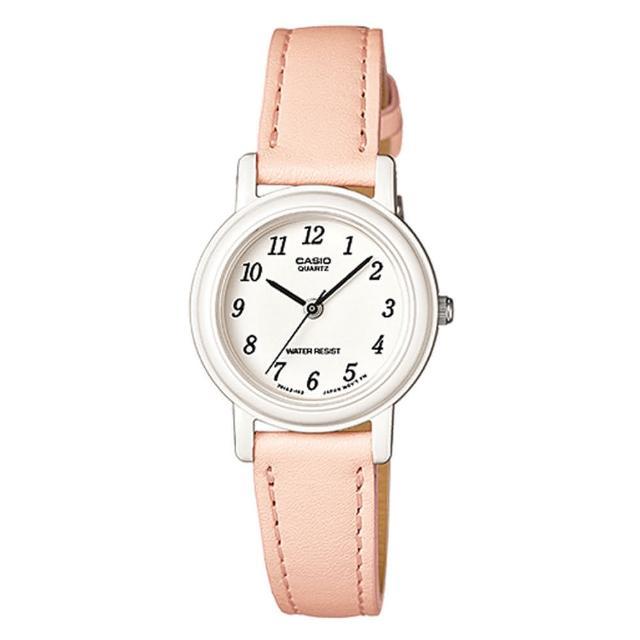 【CASIO】薄型輕巧指針錶-粉橘(LQ-139L-4B2)