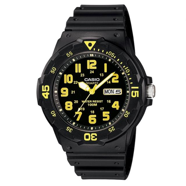 【CASIO】潛水風DIVER LOOK系列錶-黑x金(MRW-200H-9B)