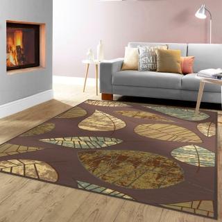 【范登伯格】法爾達 頂級立體雕花絲質地毯-葉子(160x230cm)