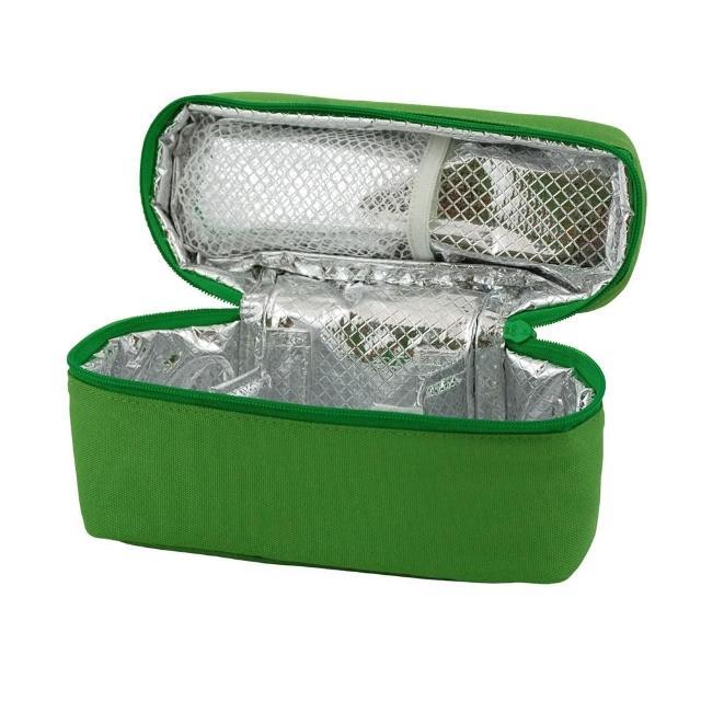 【美國 Green Sprouts】副食分裝盒 保溫保冷提袋(草綠色)
