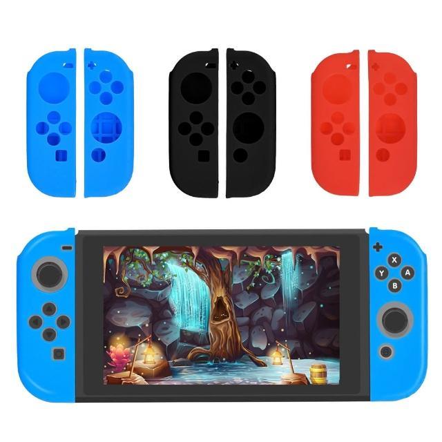 Nintendo 任天堂Switch Joy-Con搖桿手把保護套(紅)