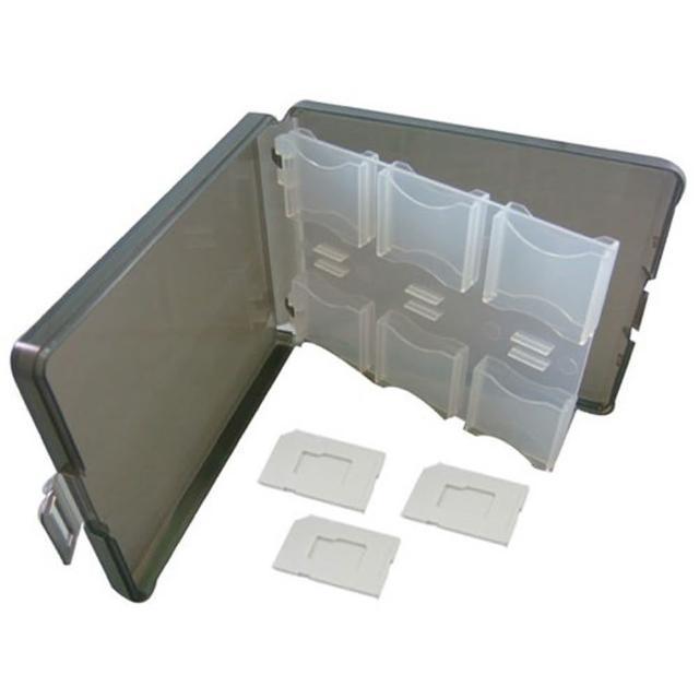 記憶卡 收納盒 12片裝 可裝 SD TF microSD 記憶卡(內附 microSD 專屬卡槽 x3)