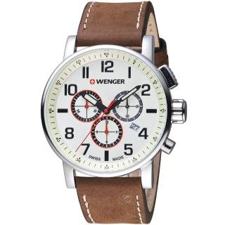 【瑞士WENGER】Attitude 態度系列 城市探索計時腕錶(01.0343.103)