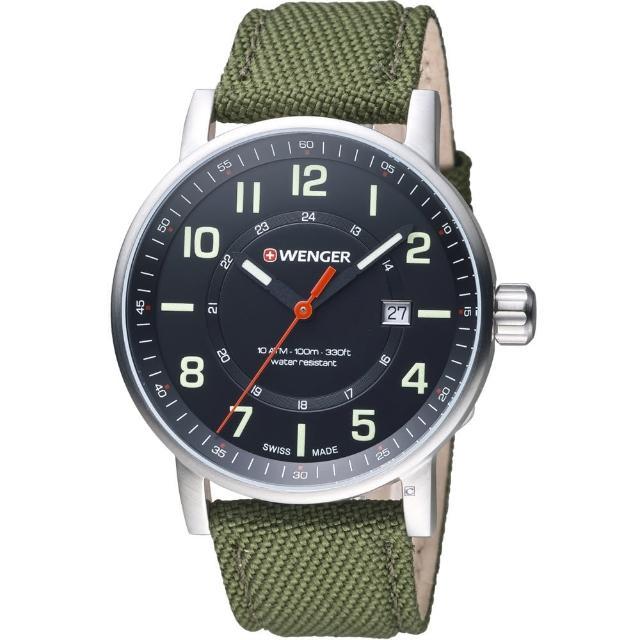 【瑞士WENGER】Attitude 態度系列 野營生活時尚腕錶(01.0341.107)