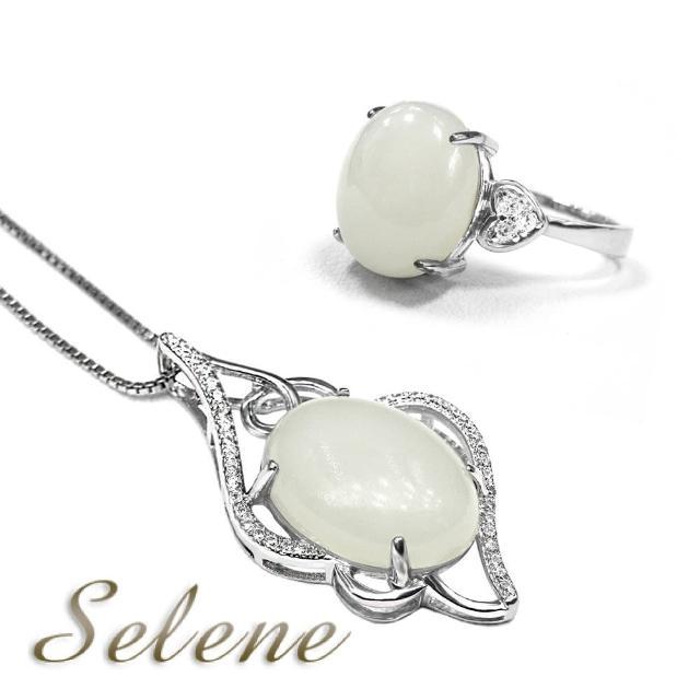 【Selene 珠寶】珍藏羊脂白玉項鍊套組(限量珍藏款)