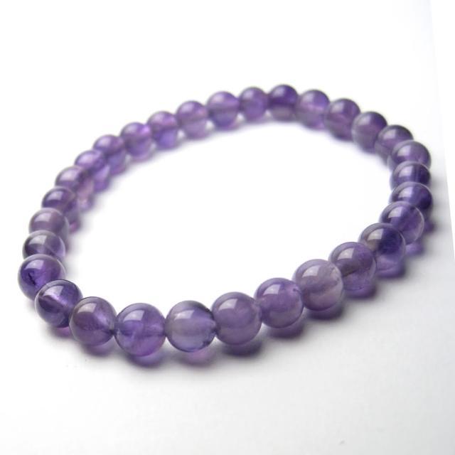 【開運工場】6mm天然紫水晶智慧串珠手環(可選手圍尺寸)