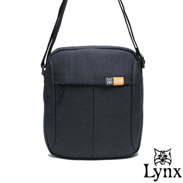 【Lynx】山貓質男防撥水休閒直式斜背包