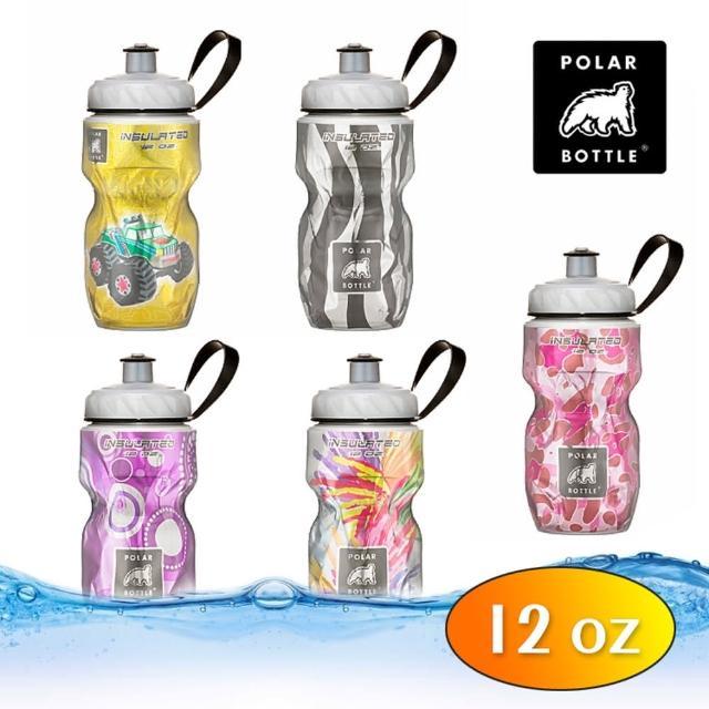 【Polar Bottle】12oz 保冷水壺 插畫圖騰系列(雙層隔熱、長效保冷、自行車水壺、保溫水壺)