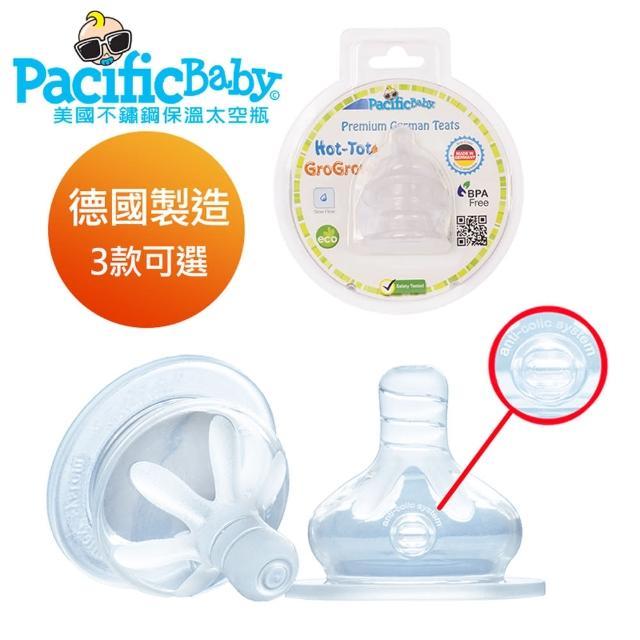 【Pacific Baby】美國寬口徑德製防漏防脹氣奶嘴2入組(3款)