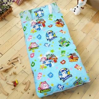 【HO KANG】正版授權 雪紡棉冬夏鋪棉兩用兒童睡袋(波力戰警-藍)