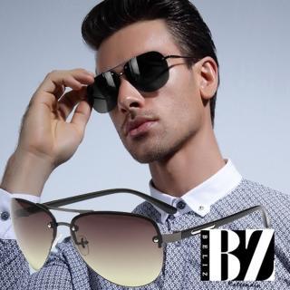 【BeLiz】中性雷朋*無框金屬貫穿墨鏡/二色可選