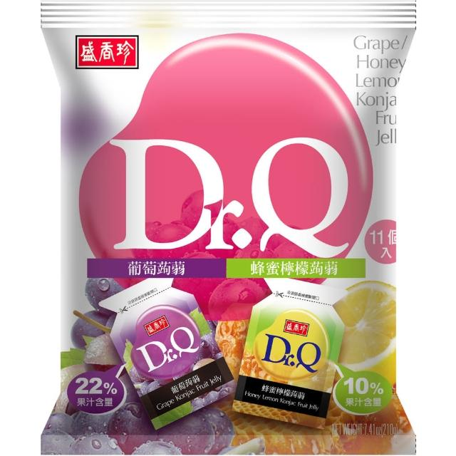 【盛香珍】Dr. Q 雙味蒟蒻-葡萄+蜂蜜檸檬口味-210g(包)