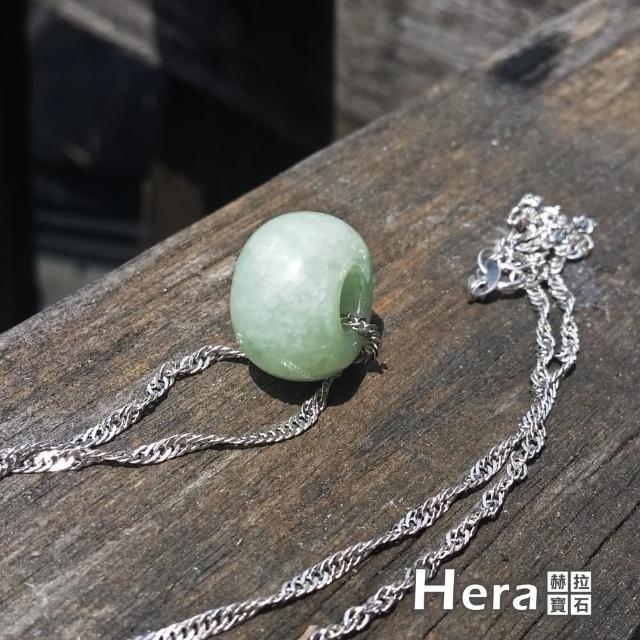【Hera】頂級豆種緬甸玉古錢項鍊/鎖骨鍊