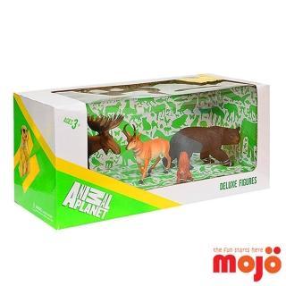 【MOJO FUN 動物模型】精裝禮盒-森林動物四件組 美洲(387318)
