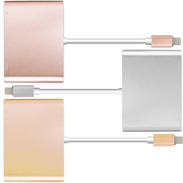 Lightning转HDMI/VGA/AV带电源孔