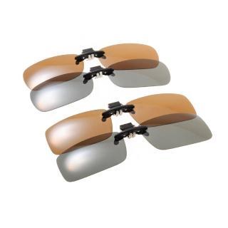 【EJING 太陽眼鏡】夾式前掛偏光片(黑/褐 #EJJC163)