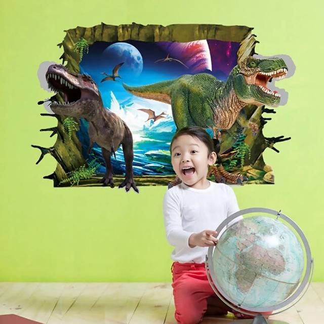 【半島良品】DIY無痕創意牆貼/壁貼-3D恐龍來了 AY9265(無痕壁貼 牆貼 壁貼紙 創意璧貼)