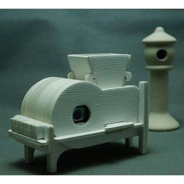 【Jo醬紙玩-】魯班紙模型DIY風鼓車削鉛筆器(春節文具禮物 交換禮物 DIY 削鉛筆器 紙模型 傳統農具)