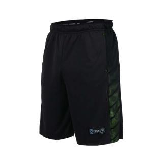 【FIRESTAR】男吸排短褲 -慢跑 跑步 籃球 五分褲 黑螢光綠(B7601-10)