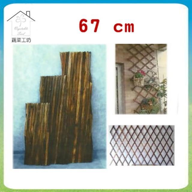 【蔬菜工坊011-A19】燻木伸縮籬笆67公分(可任意伸長)