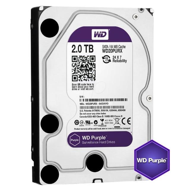 【WD】20PURZ 紫標 2TB 3.5吋監控系統硬碟