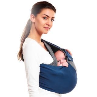 【荷蘭 wallaboo】袋鼠背巾(藍灰色)
