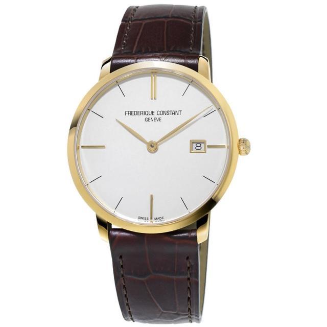 【康斯登 CONSTANT】SLIMLINE超薄系列MIDSIZE DATE腕錶(FC-220V5S5)
